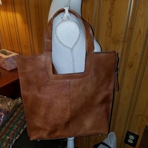 NWT IMPORTED LEATHER HANDMADE SHOPPER TOTE